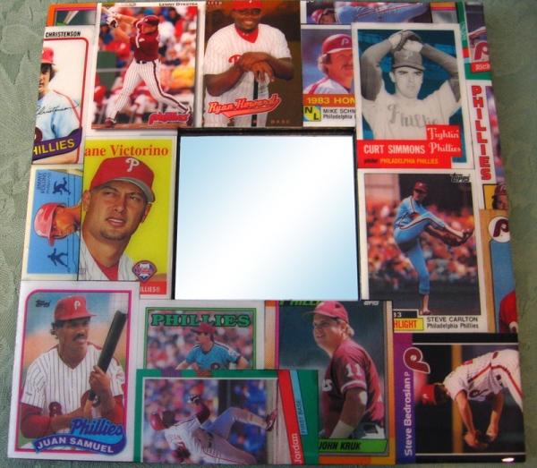 Philadelphia Phillies Baseball Card Mirror