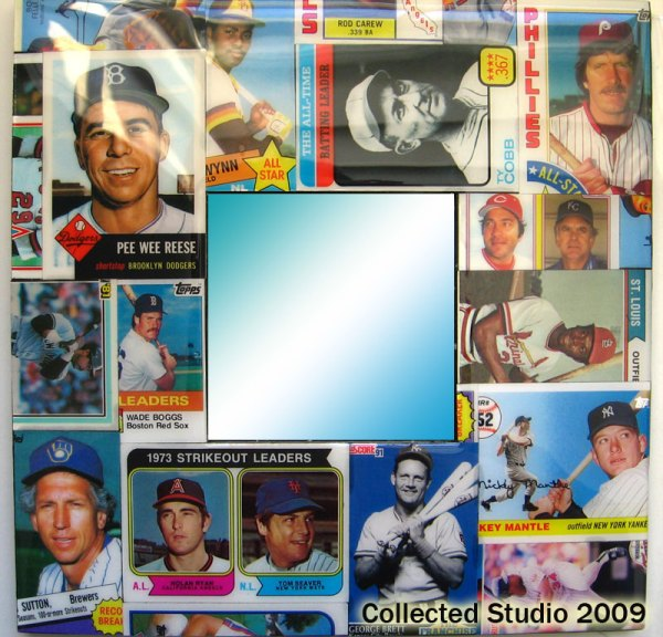 Baseball Card Collage Mirror featuring Hall of Famers.