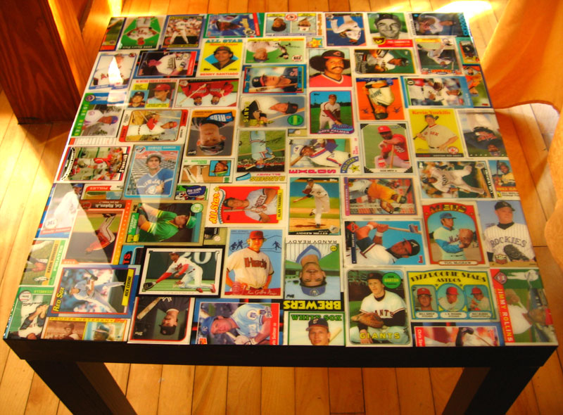 Baseball Card Coffee Table Collected