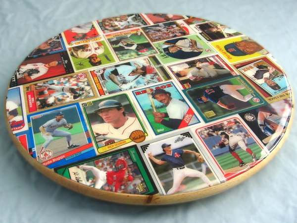 Baseball Card Collage Lazy Susan