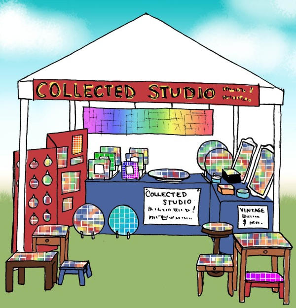 Annie's rendering of our booth!